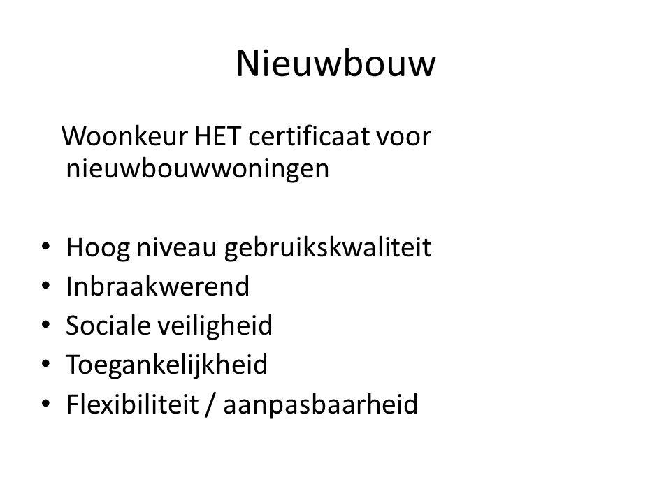 Nieuwbouw Woonkeur HET certificaat voor nieuwbouwwoningen