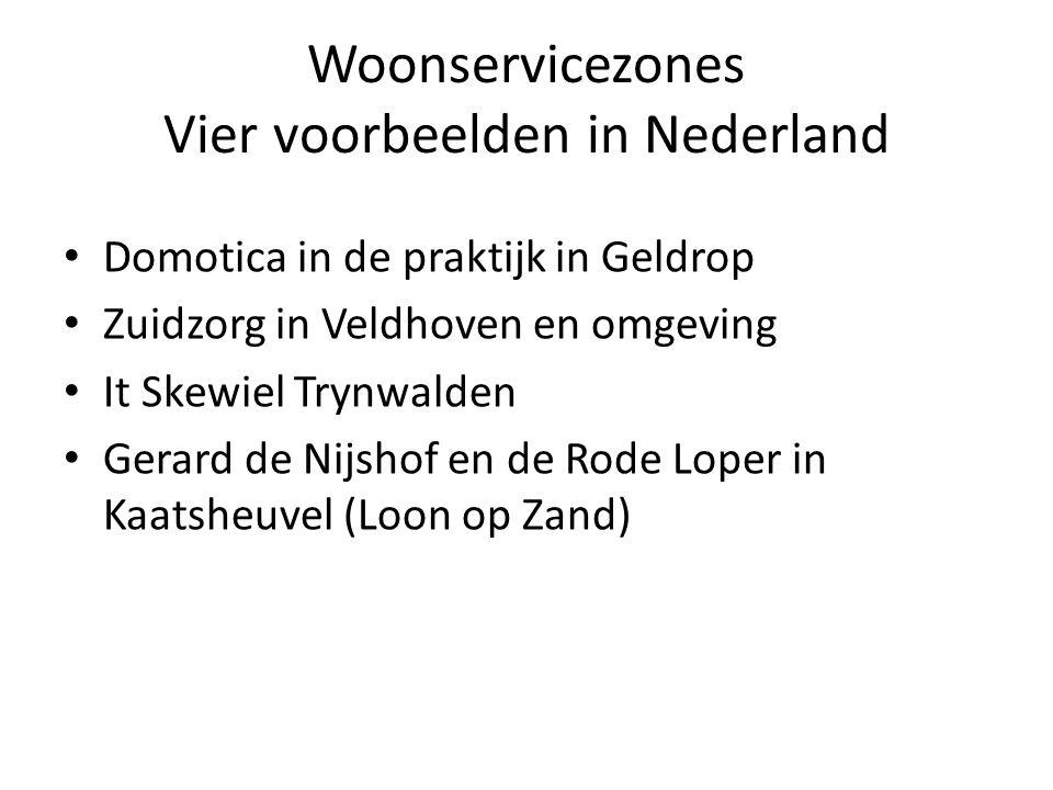Woonservicezones Vier voorbeelden in Nederland