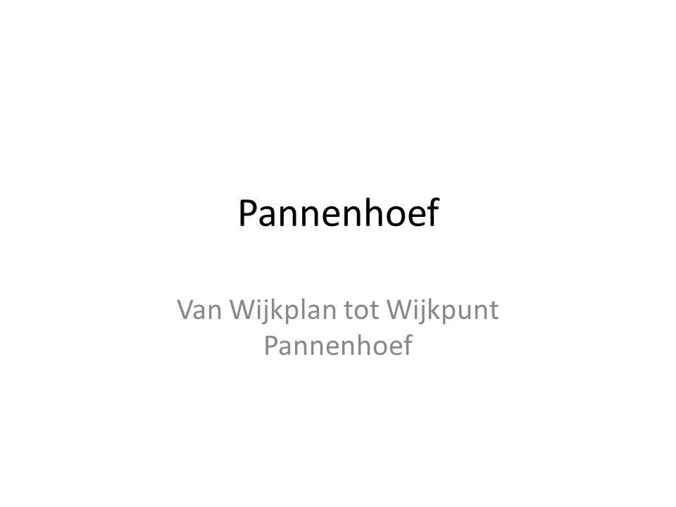 Van Wijkplan tot Wijkpunt Pannenhoef