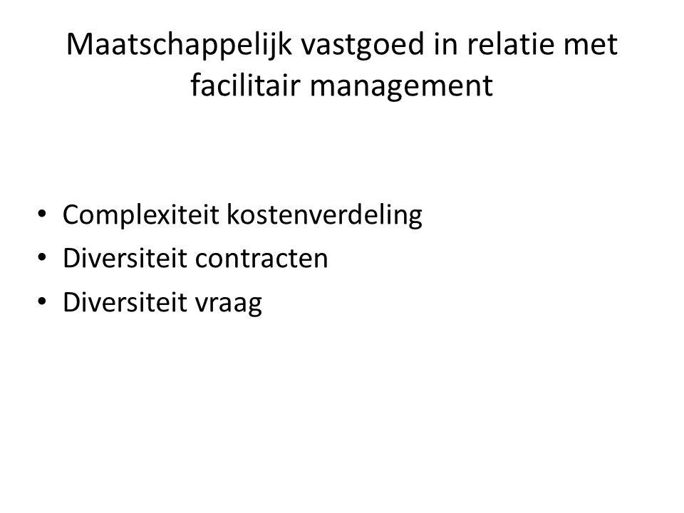 Maatschappelijk vastgoed in relatie met facilitair management