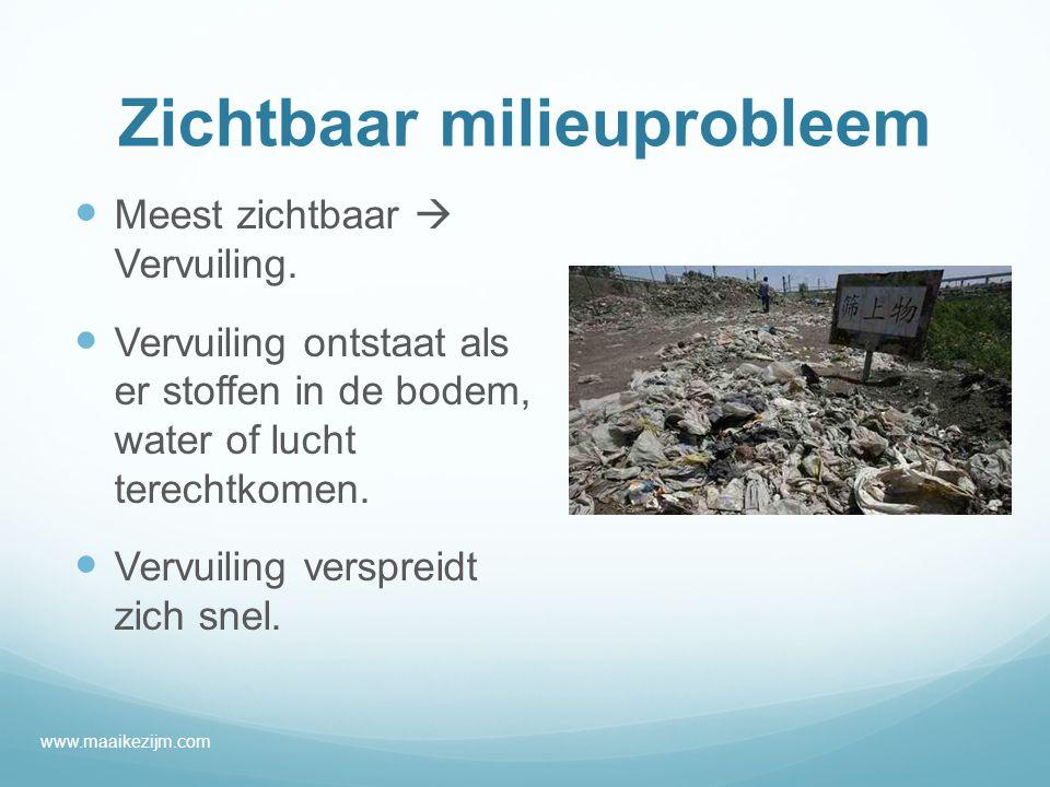 Zichtbaar milieuprobleem