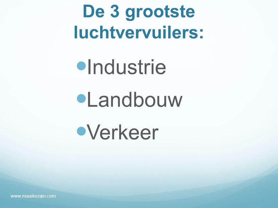 De 3 grootste luchtvervuilers:
