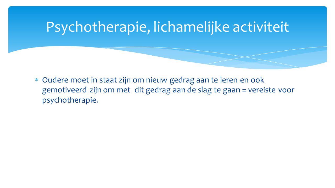 Psychotherapie, lichamelijke activiteit