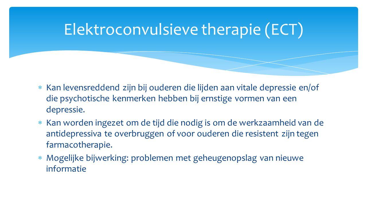 Elektroconvulsieve therapie (ECT)