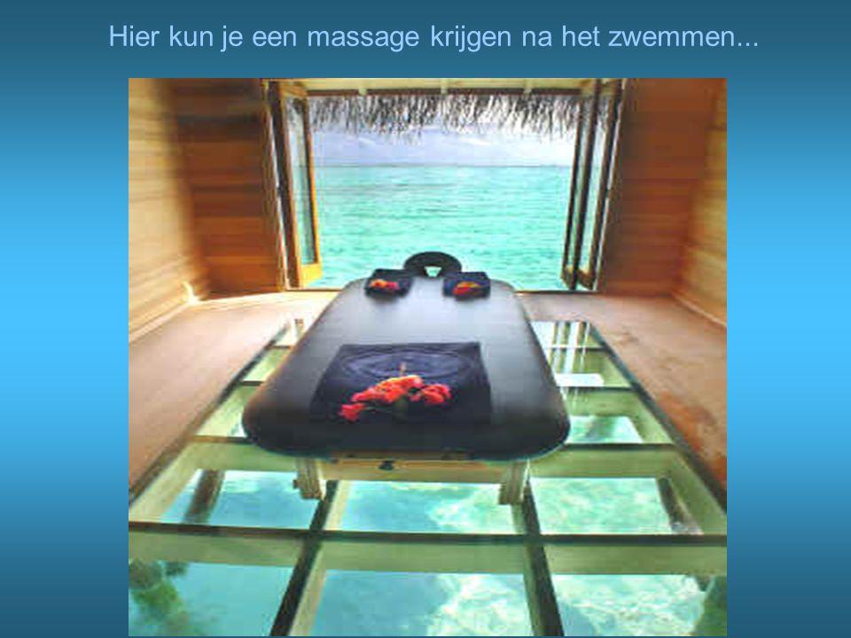 Hier kun je een massage krijgen na het zwemmen...