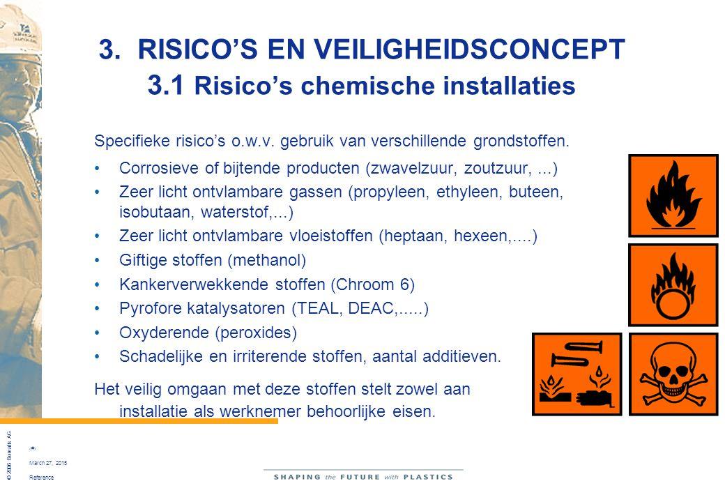 3. RISICO'S EN VEILIGHEIDSCONCEPT 3.1 Risico's chemische installaties