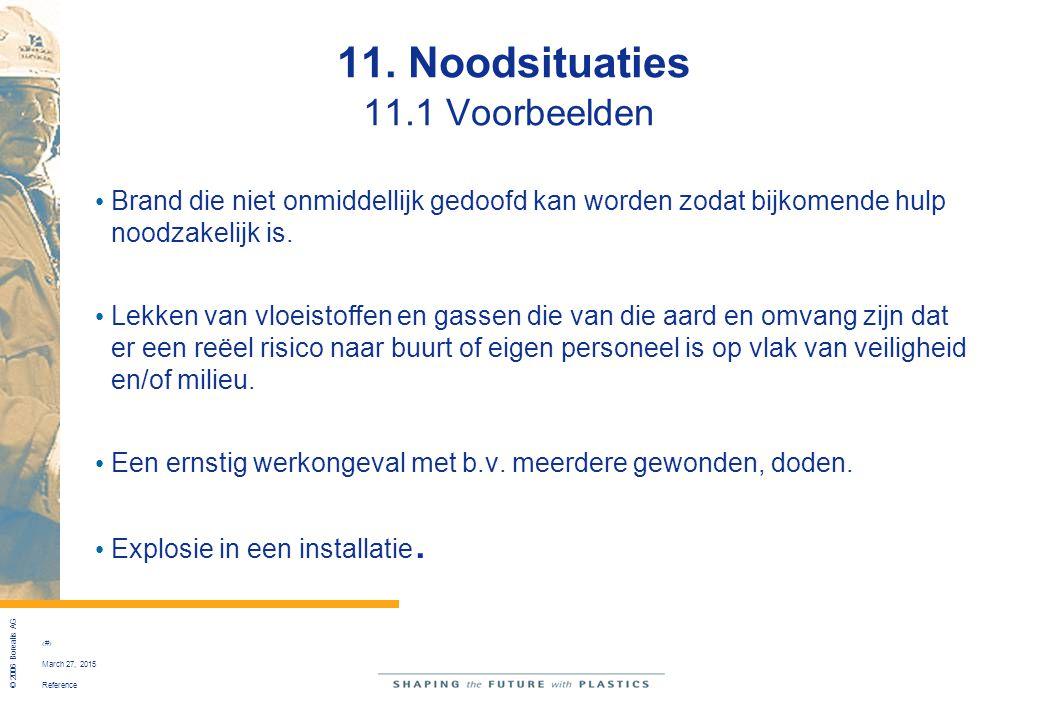 11. Noodsituaties 11.1 Voorbeelden