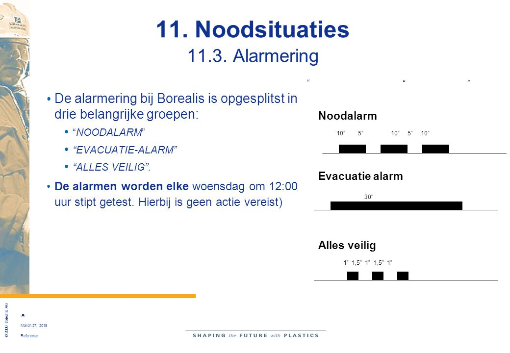 11. Noodsituaties 11.3. Alarmering