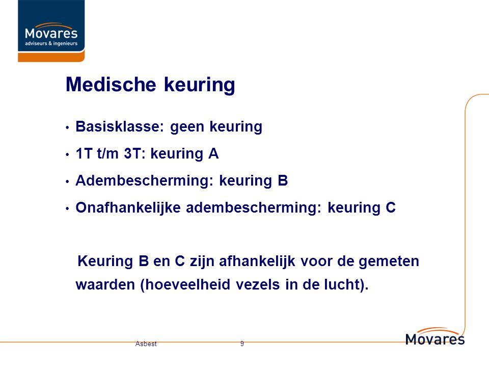 Medische keuring Basisklasse: geen keuring 1T t/m 3T: keuring A