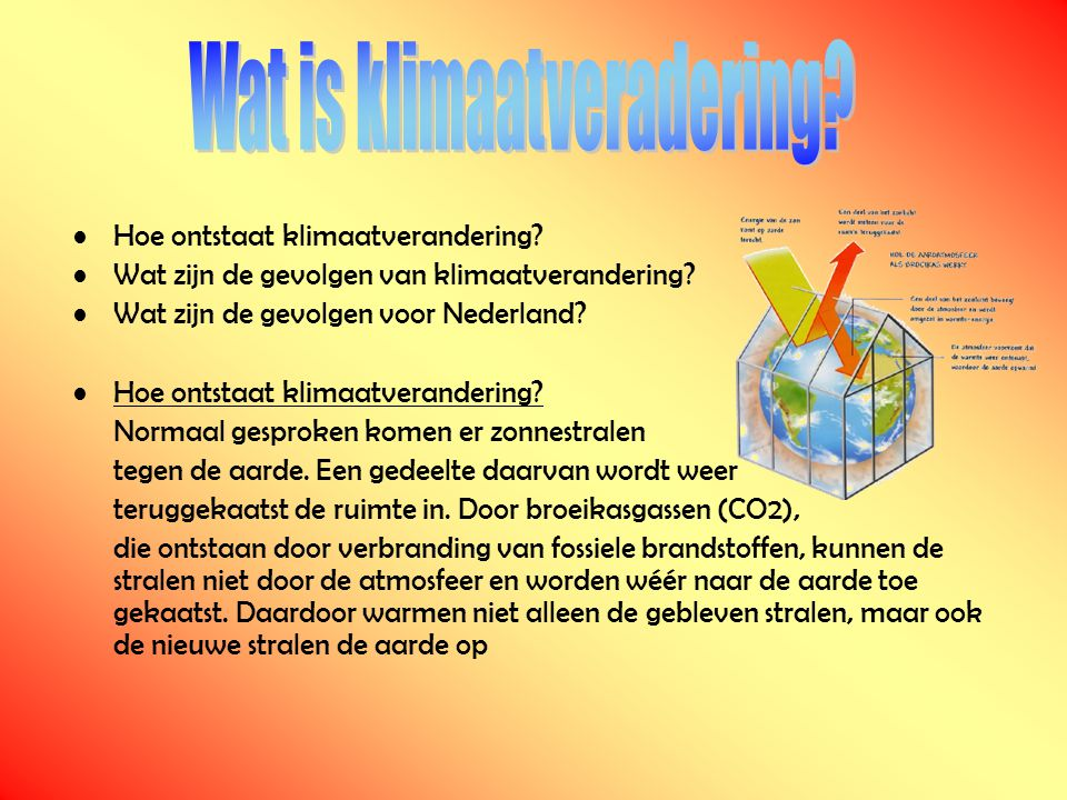 Wat is klimaatveradering