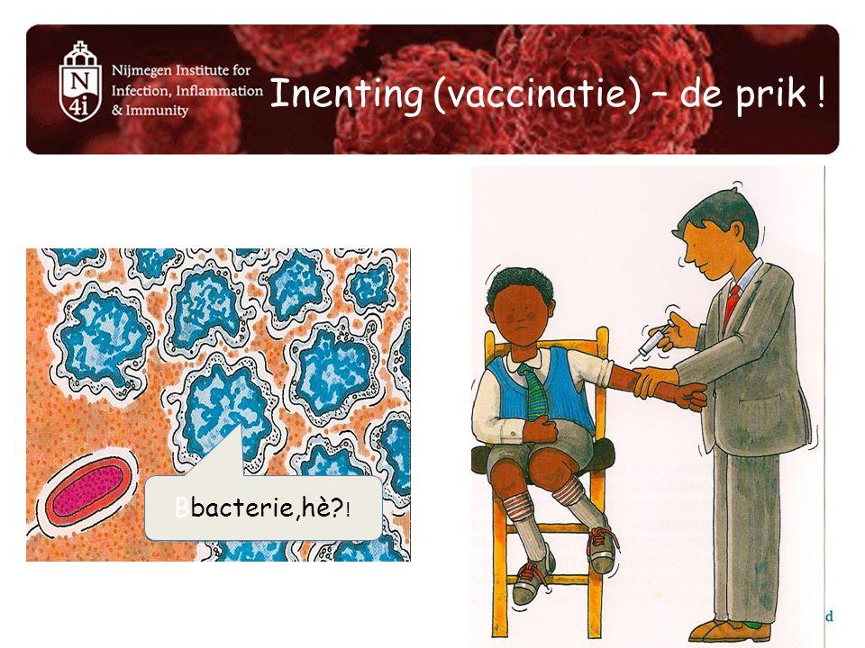 Inenting (vaccinatie) – de prik !