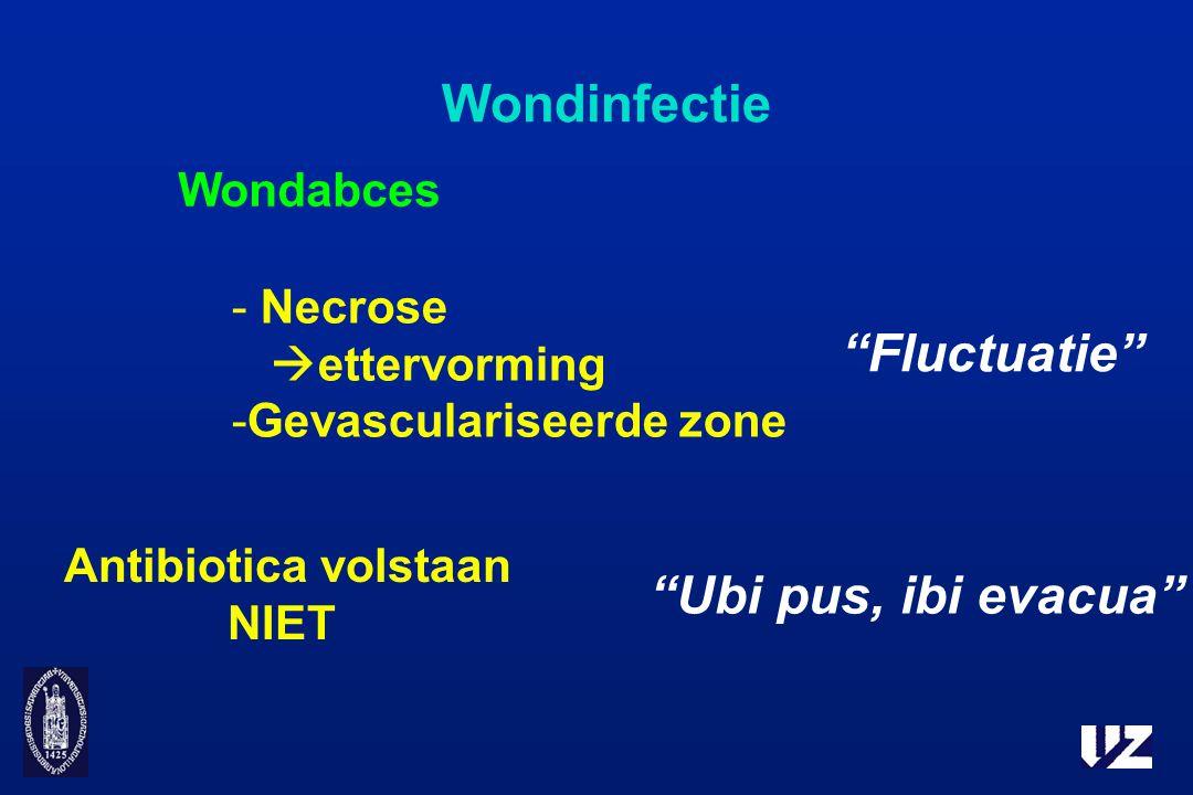 Wondinfectie Fluctuatie Ubi pus, ibi evacua Wondabces Necrose