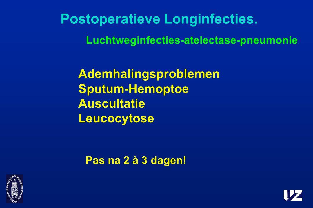 Postoperatieve Longinfecties.