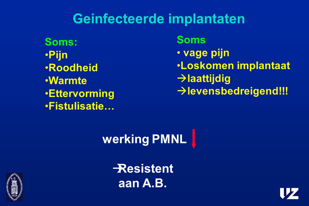 Geinfecteerde implantaten
