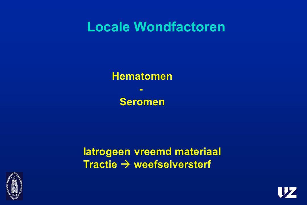Locale Wondfactoren Hematomen - Seromen Iatrogeen vreemd materiaal