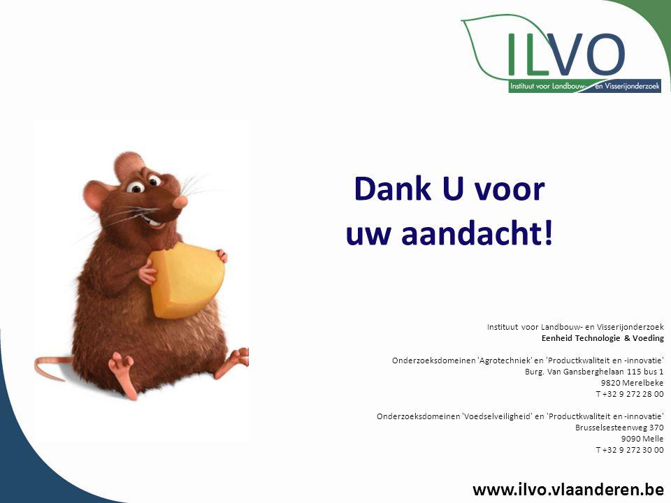 Dank U voor uw aandacht! www.ilvo.vlaanderen.be
