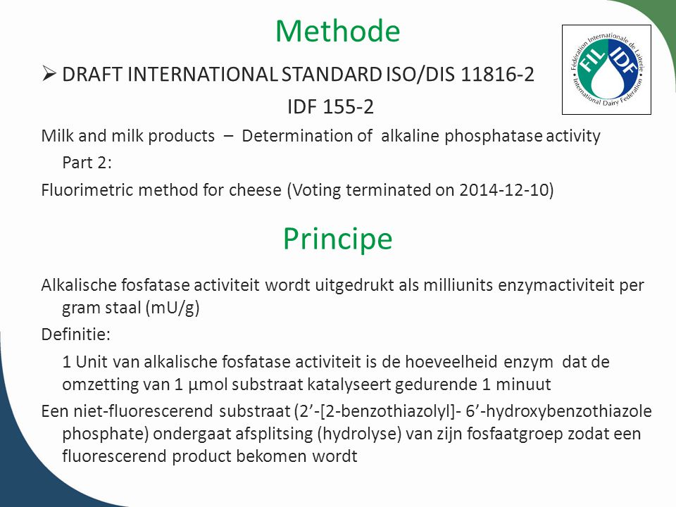 Methode Principe DRAFT INTERNATIONAL STANDARD ISO/DIS 11816-2