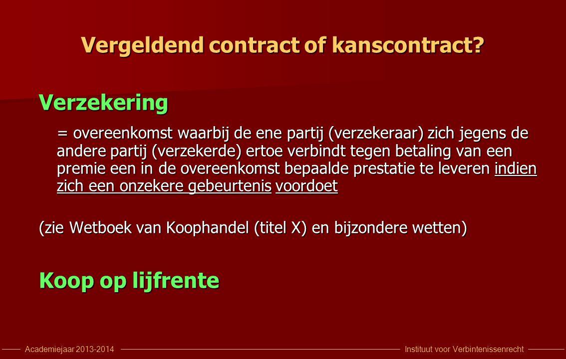 Vergeldend contract of kanscontract