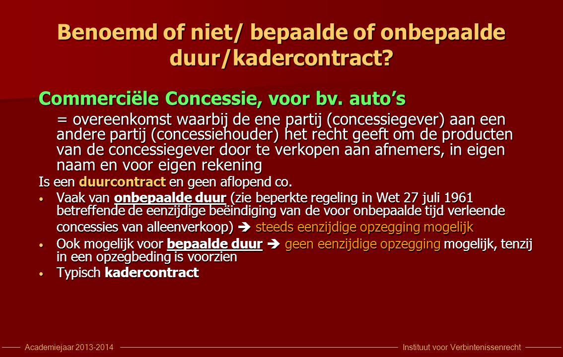 Benoemd of niet/ bepaalde of onbepaalde duur/kadercontract