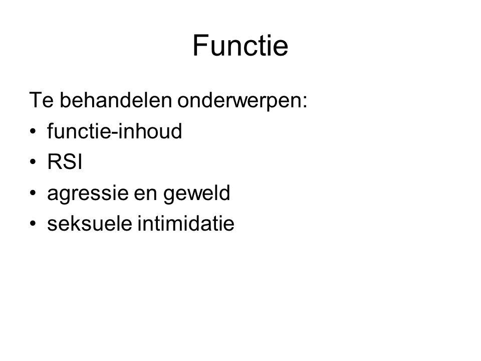 Functie Te behandelen onderwerpen: functie-inhoud RSI