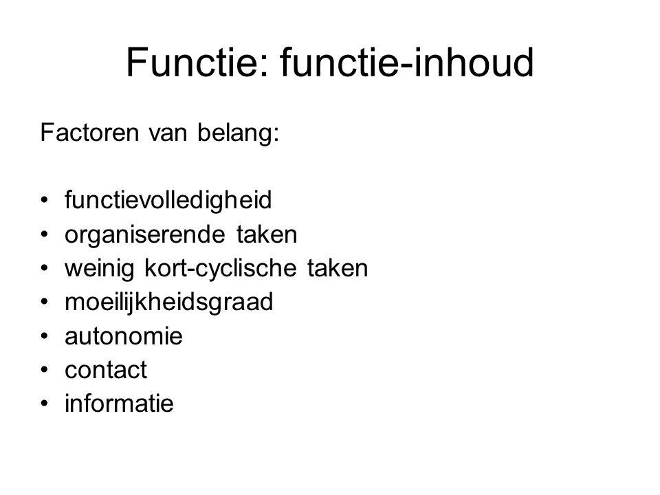 Functie: functie-inhoud