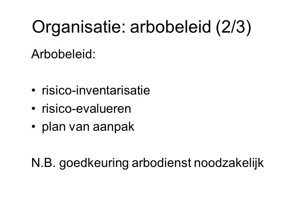 Organisatie: arbobeleid (2/3)