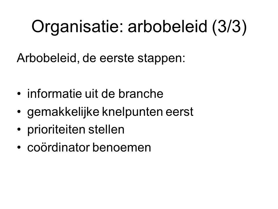 Organisatie: arbobeleid (3/3)