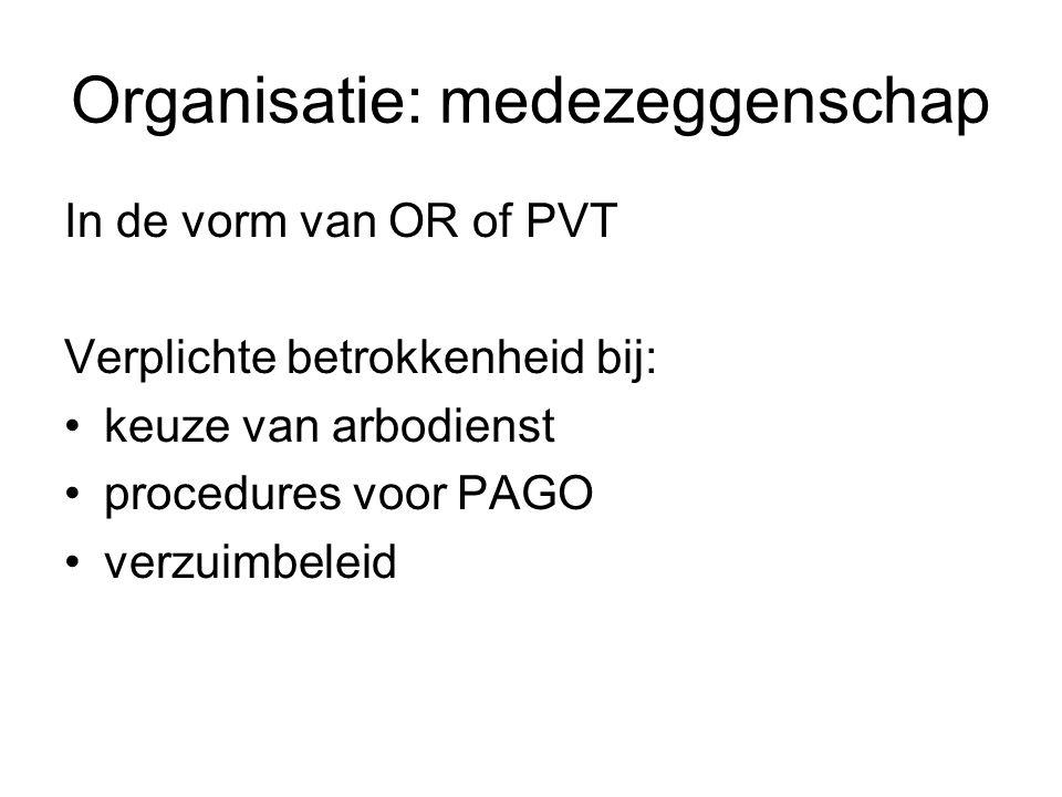 Organisatie: medezeggenschap