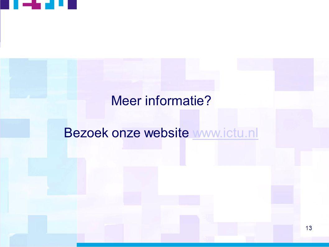 Bezoek onze website www.ictu.nl