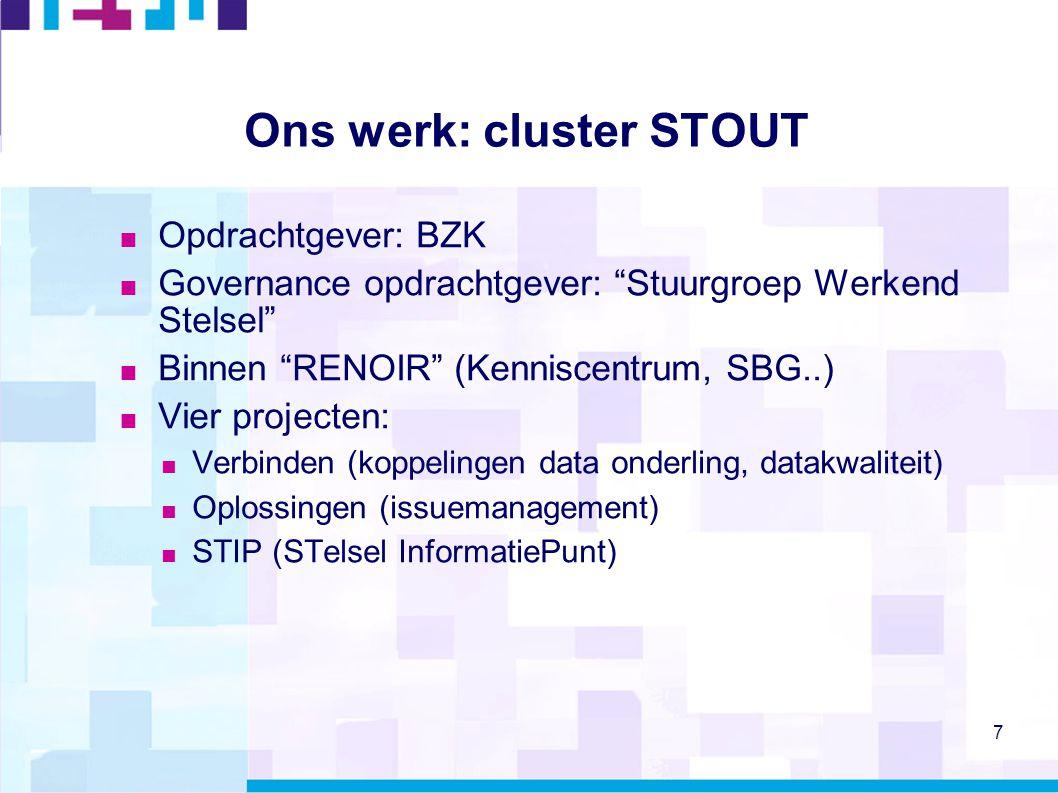 Ons werk: cluster STOUT