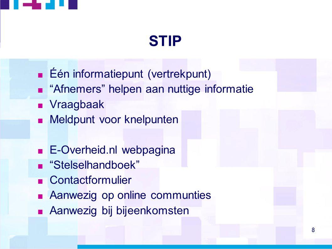 STIP Één informatiepunt (vertrekpunt)