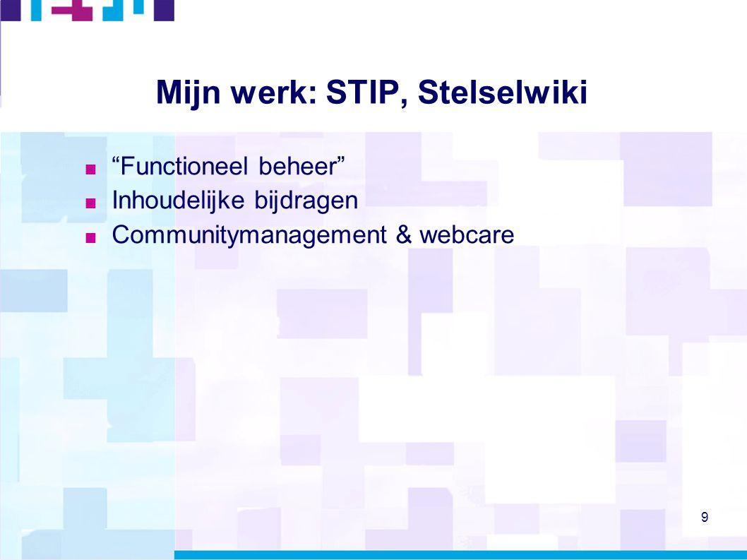 Mijn werk: STIP, Stelselwiki
