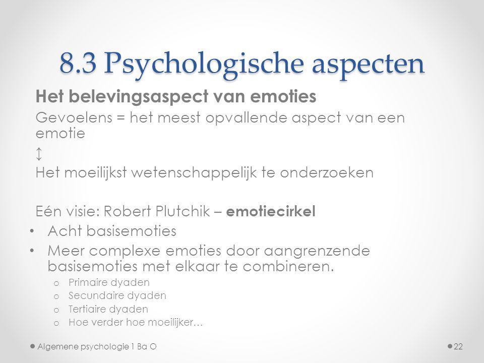 8.3 Psychologische aspecten