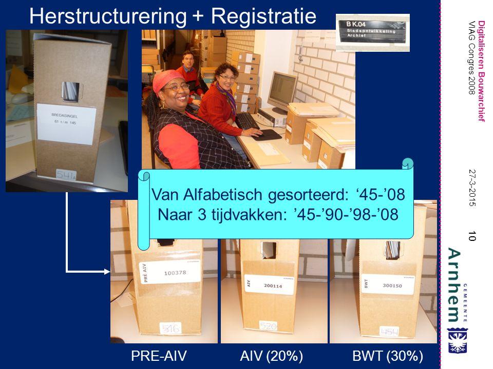Herstructurering + Registratie
