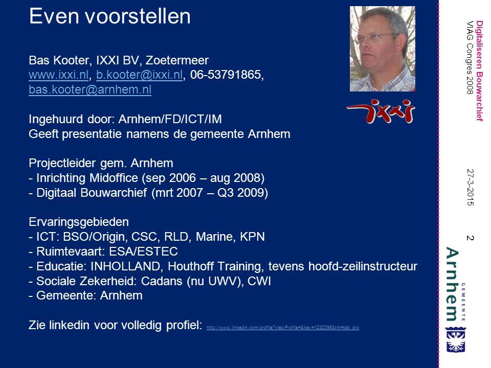 Even voorstellen Bas Kooter, IXXI BV, Zoetermeer