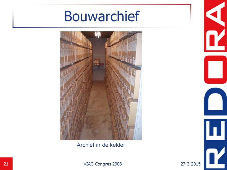Bouwarchief Archief in de kelder VIAG Congres 2008 8-4-2017