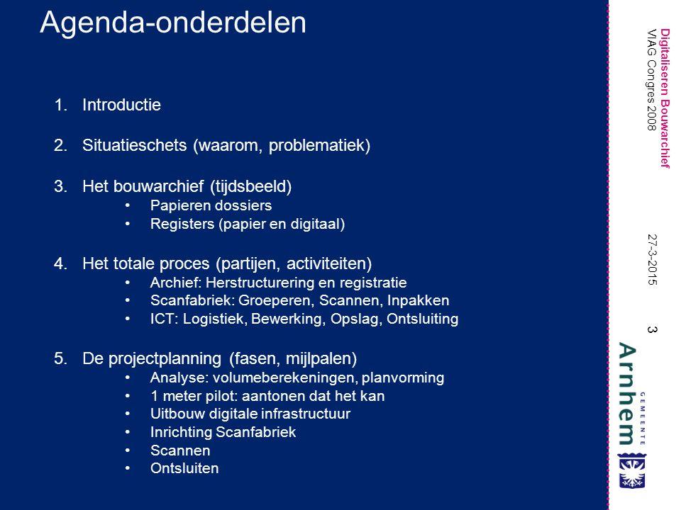 Agenda-onderdelen Introductie Situatieschets (waarom, problematiek)