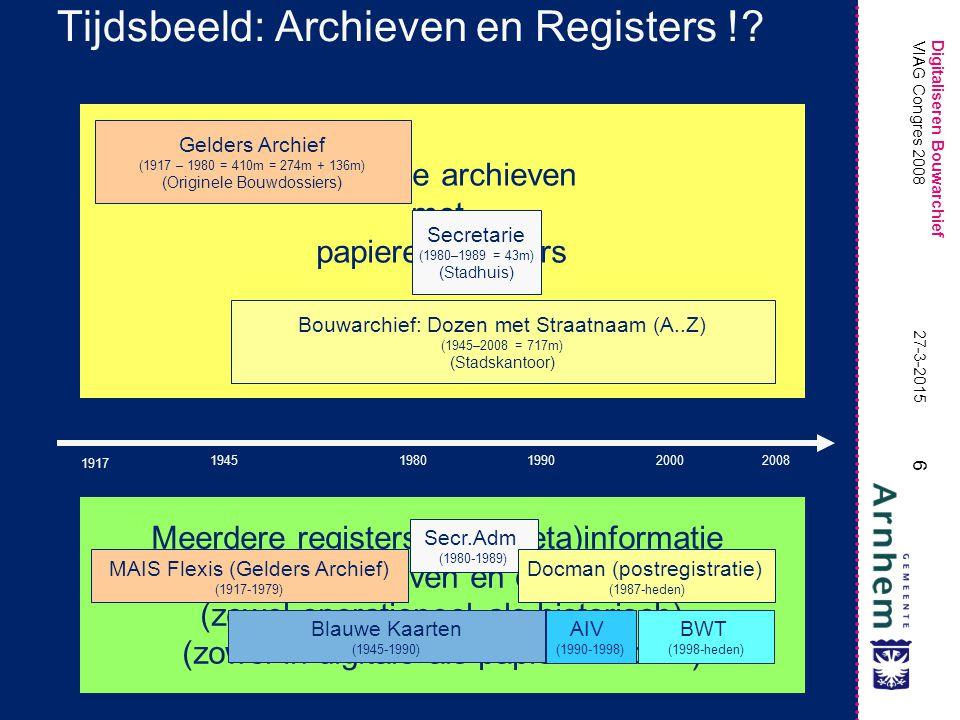 Tijdsbeeld: Archieven en Registers !