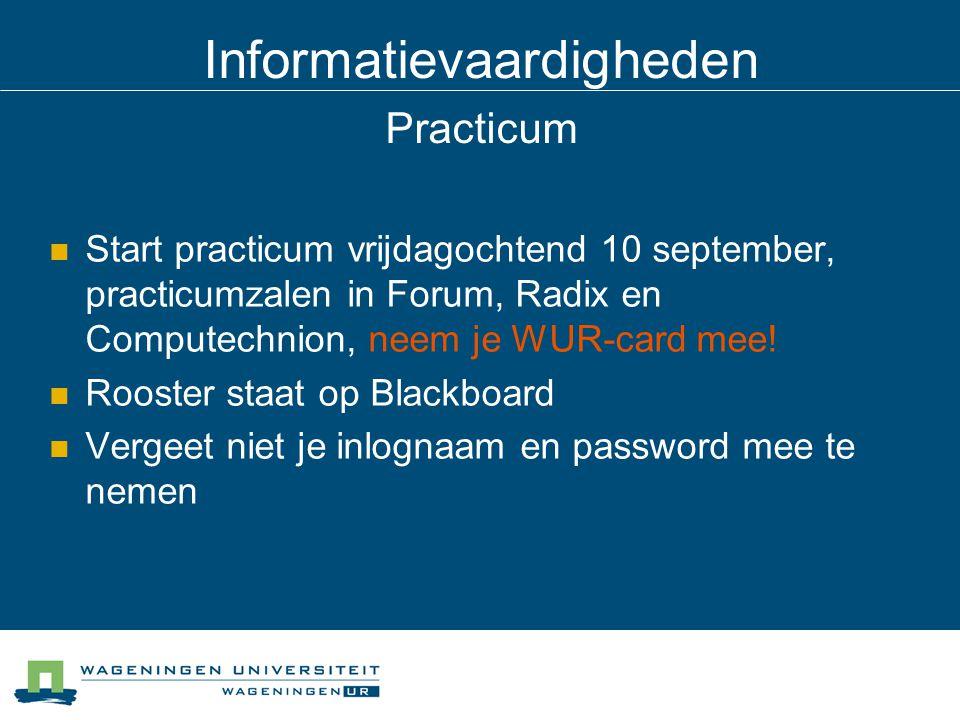 Informatievaardigheden Practicum