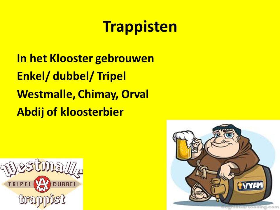 Trappisten In het Klooster gebrouwen Enkel/ dubbel/ Tripel Westmalle, Chimay, Orval Abdij of kloosterbier