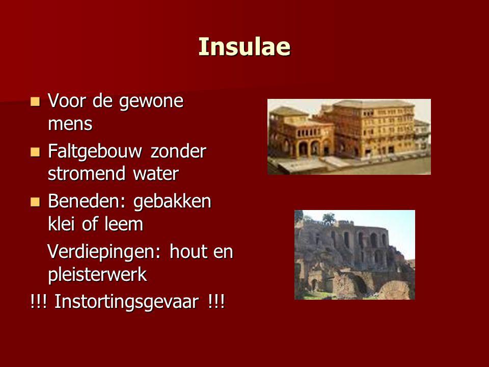 Insulae Voor de gewone mens Faltgebouw zonder stromend water