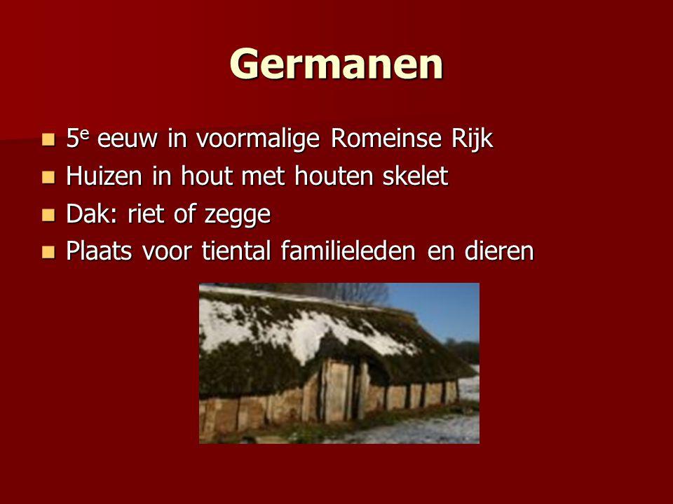 Germanen 5e eeuw in voormalige Romeinse Rijk