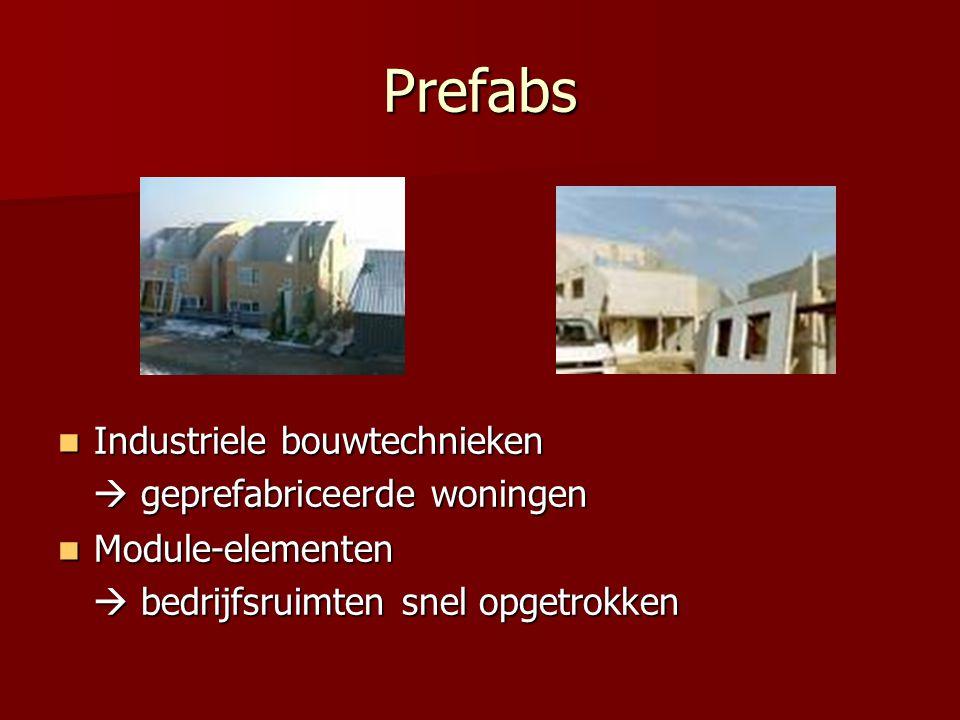 Prefabs Industriele bouwtechnieken  geprefabriceerde woningen