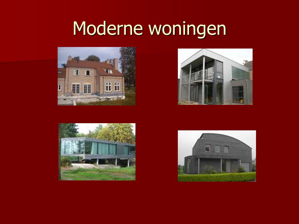 Moderne woningen