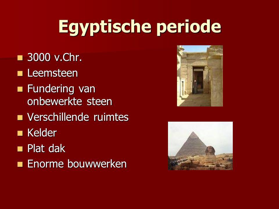 Egyptische periode 3000 v.Chr. Leemsteen
