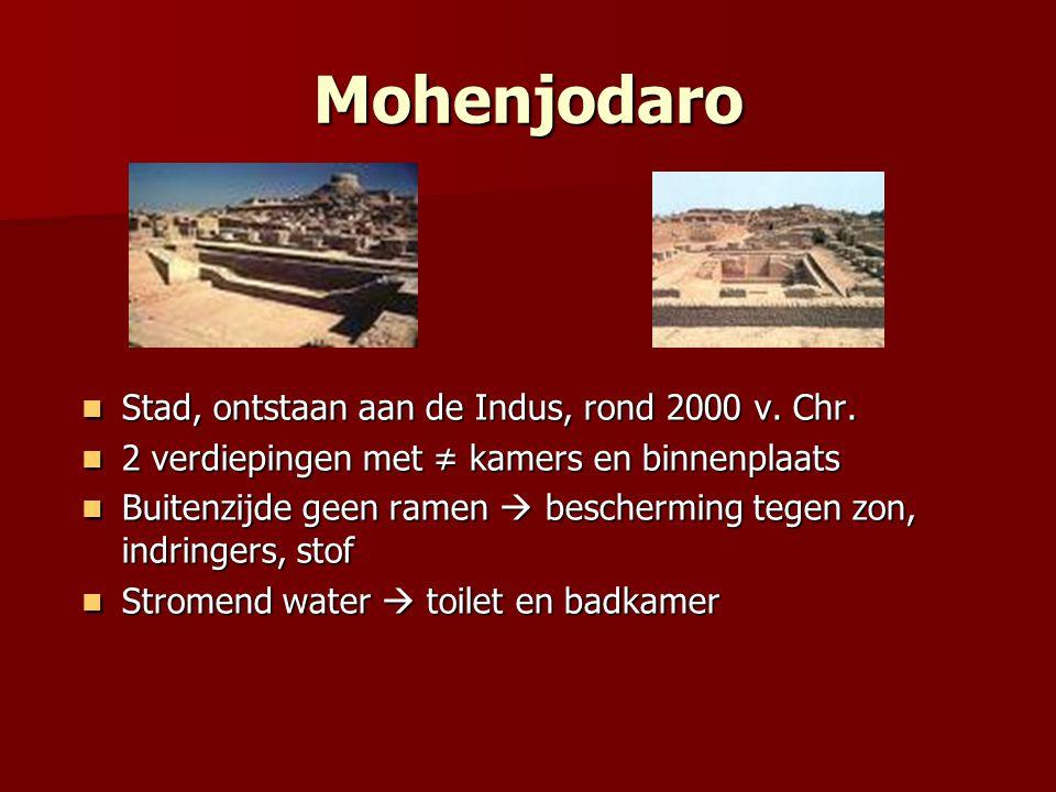 Mohenjodaro Stad, ontstaan aan de Indus, rond 2000 v. Chr.