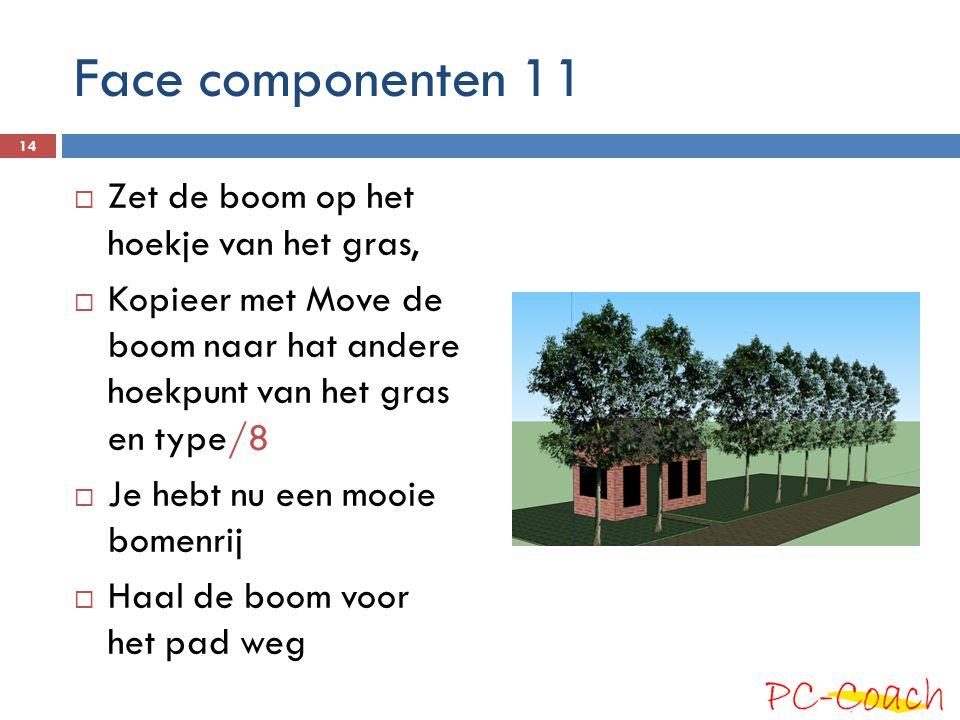 Face componenten 11 Zet de boom op het hoekje van het gras,