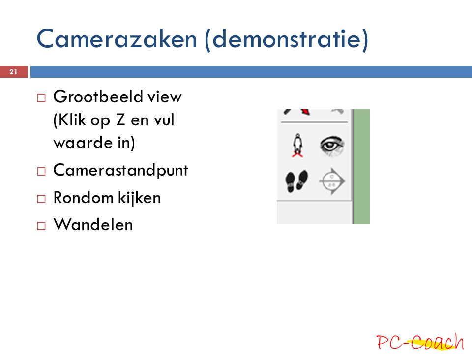 Camerazaken (demonstratie)