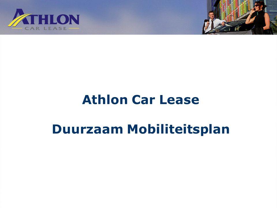 Athlon Car Lease Duurzaam Mobiliteitsplan
