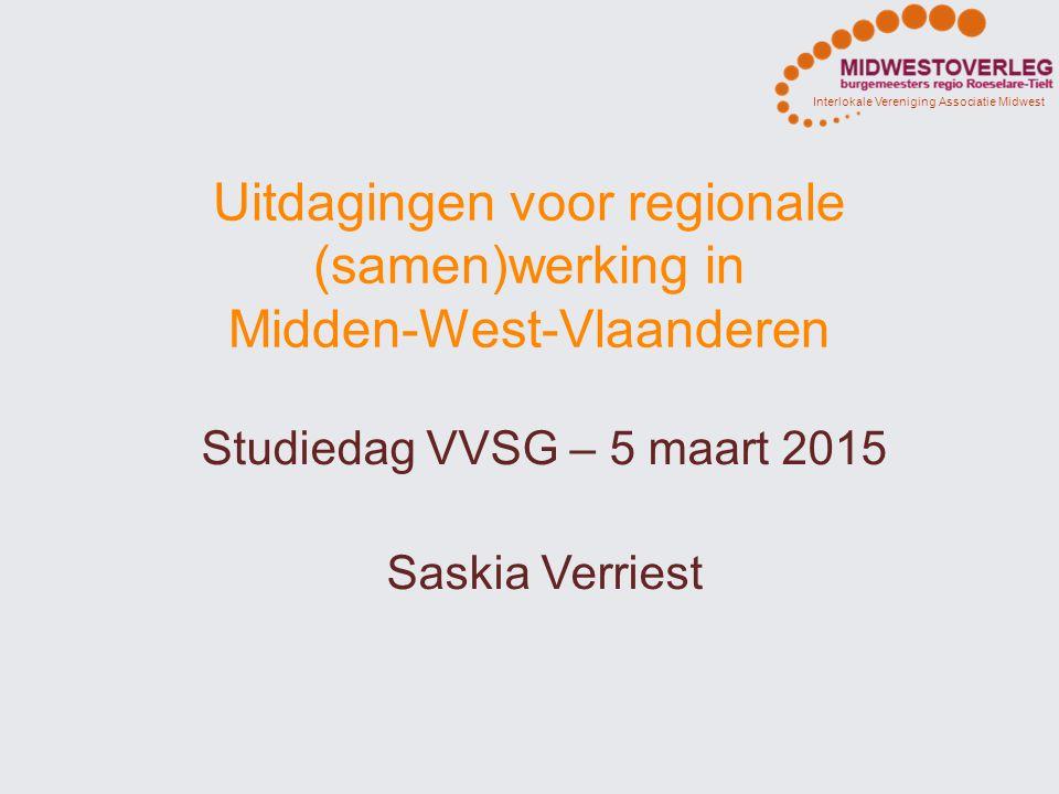 Uitdagingen voor regionale (samen)werking in Midden-West-Vlaanderen
